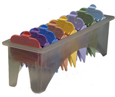 Blistered 1-8 Attachment Combs-Color-Coded